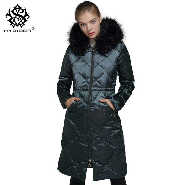 06b56077d16c US  44.99 hydiber 2017 New Fashion Women Winter Long Sleeve Parkas Ladies  Dark Green Artificial Fur