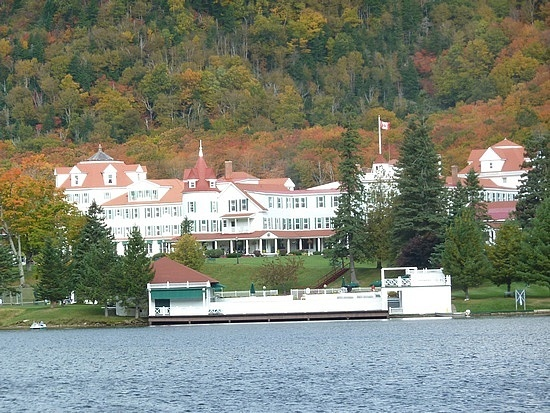 The Balsams Resort in Dixville Notch, New Hampshire; Dixville Notch is famous for casting it's ballots at midnight on the day of the NH primary, and for accurately predicting the winner.