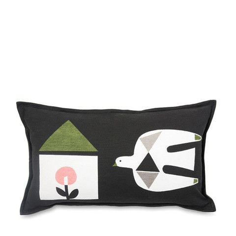 Flight Printed Lumbar Cushion Cover by Citta Design | Citta Design Australia