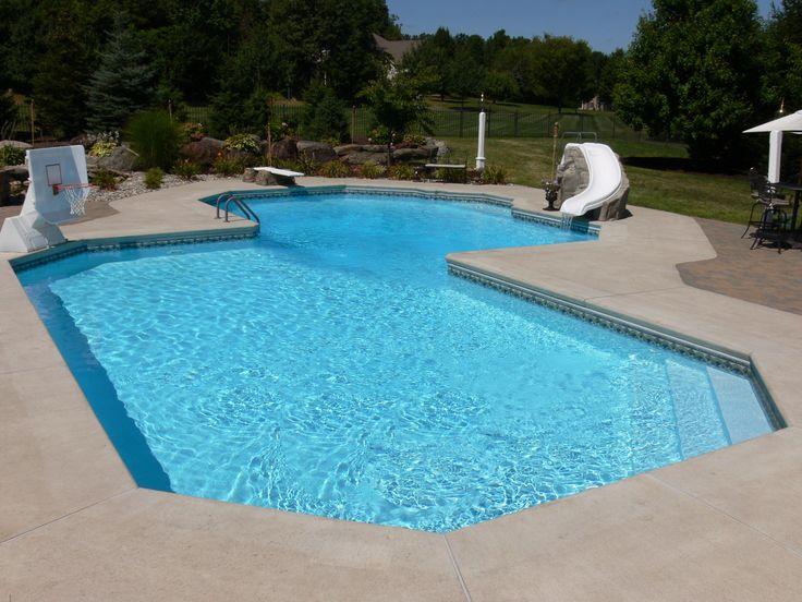 17 Best Ideas About Inground Pool Designs On Pinterest