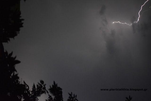 ΑΛΗΘΕΙΑ: Κεραυνοί στον ουρανό της Κατερίνης.