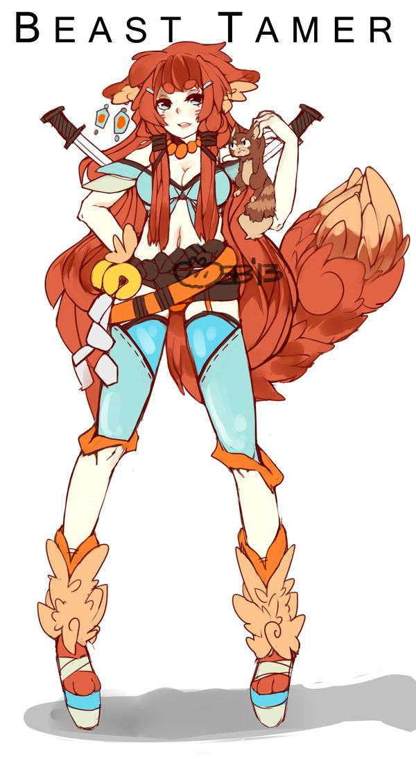 :FANTASY ADOPT: Beast Tamer [ended] by Steamed-Bun.deviantart.com on @deviantART
