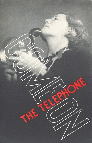"""Come on the telephone"", telephones publicity leaflet, c1933 (BT Archives, TCB 318/PH 3)"