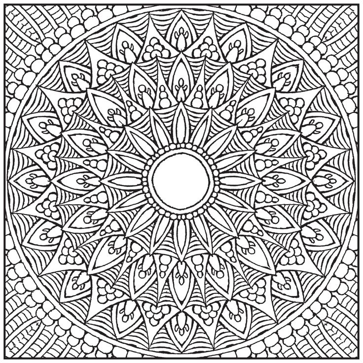 Color With Music Mandalas Adult Coloring Book Blank