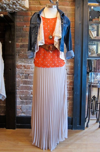 maxi skirt with layers from Philanthropy - Cute layering idea