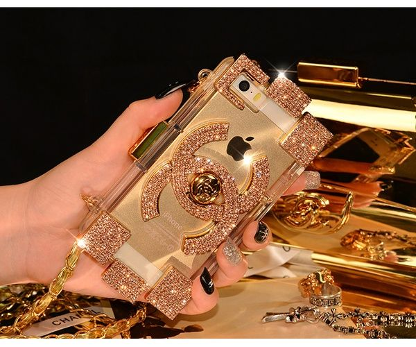 I found 'New Chic Luxury Designer Crystal Logo iPhone Case With Chain' on Wish, check it out!