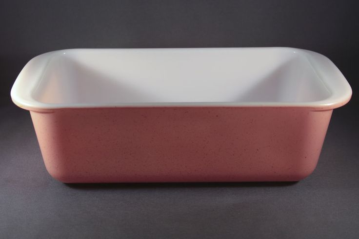 Vintage Pyrex Desert Dawn Pink Loaf Pan 1955 #213 1.5 Quart Glass Speckled #Pyrex