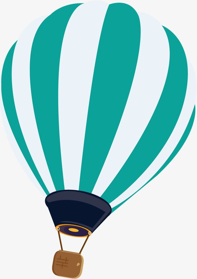 Striped Hot Air Balloon Vector Stripe Hand Painted Hot Air