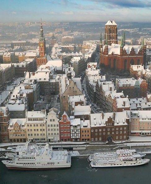 Gdansk, Poland in Winter
