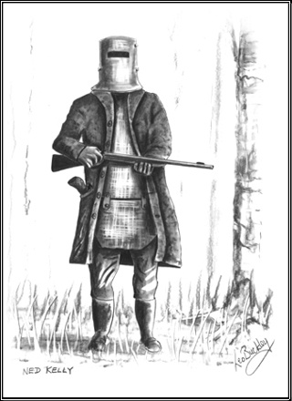 Ned Kelly // I like it. But can't connect as much as to a portrait profile