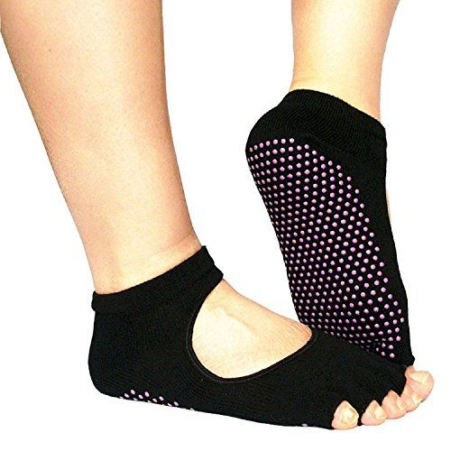 Sannysis New 5-Toe Exercise Yoga Gym Non Slip Massage Toe Socks With Full Grip >>> Learn more by visiting the image link.