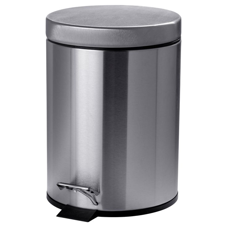 STRAPATS Pedal bin - stainless steel, 1 gallon - IKEA
