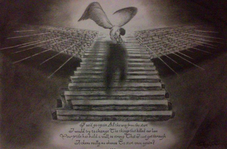 Angel/Heaven/Stairs/Broken/Drawing/Led Zeppelin