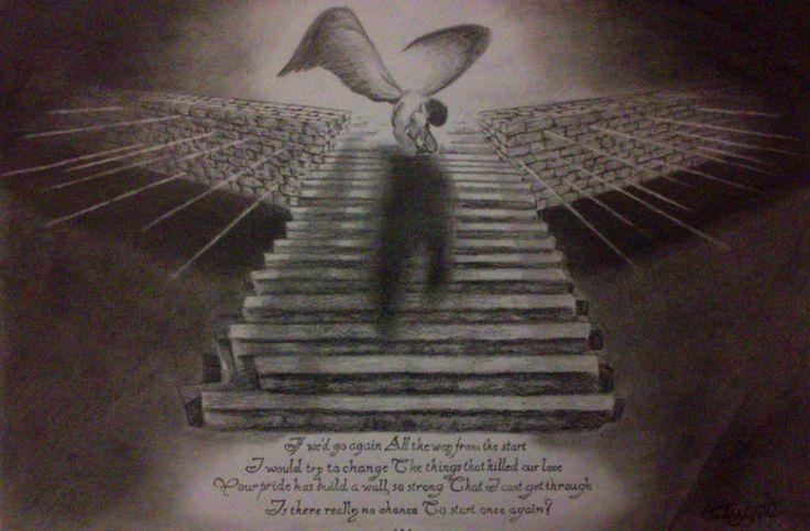 Angel/Heaven/Stairs/Broken/Drawing/Led Zeppelin