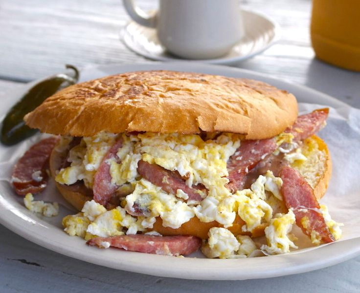 Our #Breakfast #Torta (Bolillo): Served w/ Refried Beans, Cheese and ...