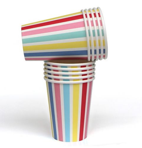 These gorgeous high quality carnival stripe paper cups are produced with a gorgeous satin finish and are perfect for any occasion! #partyware #partycups #cups #event #styling #partyshop #partydecor #firstbirthday #wedding #engagement #bridalshower #babyshower #christening #teaparty #partytheme #paper #eventplanning #designerkids #designerbaby #homewares #designer #style #love #food #partyinspo #littlebooteekau #carnival #stripes #rainbow #colour