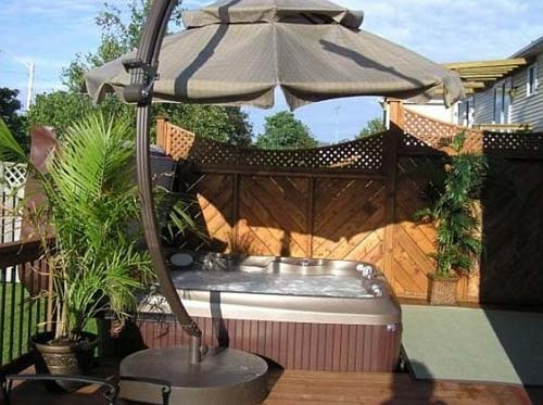 59 best spa images on pinterest | hot tub deck, backyard ideas and ... - Spa Patio Ideas