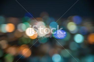 Urban city night light bokeh , defocused blur background Royalty Free Stock Photo