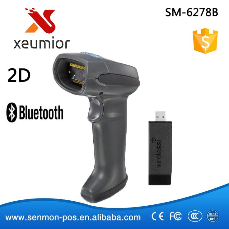 122.55$  Buy here - http://aliyo2.worldwells.pw/go.php?t=32308790232 - Wireless 2D Bar code scanner 2D Bluetooth Barcode Scanner QR Barcode Reader PDF417 SM-6278B