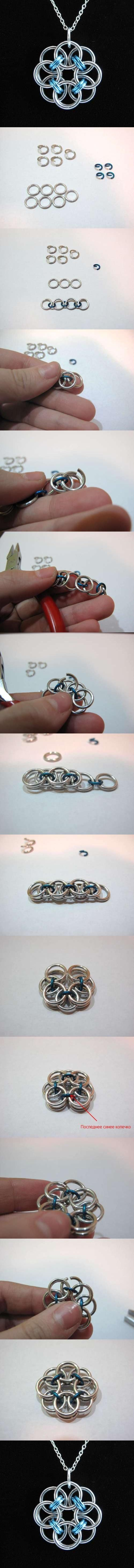 Rose Wire Pendant .... 22 Fantastic DIY Jewelry Tutorials That You'll Love To Create And Wear.