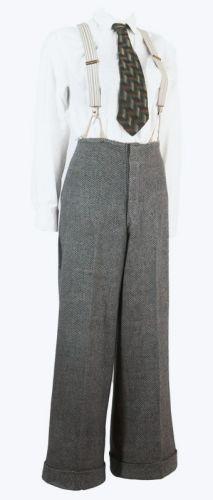 1930s Tweed Women's Pants Ex Hollywood Costume