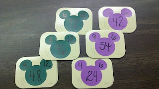 Flash cards...would work for addition, too!  Could also use these with fact families...so many ideas!