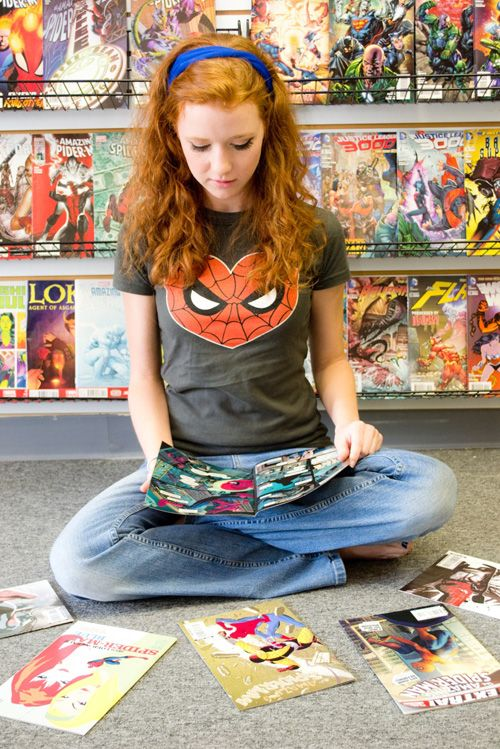 Mary Jane in the Comic Book Shop http://geekxgirls.com/article.php?ID=3778
