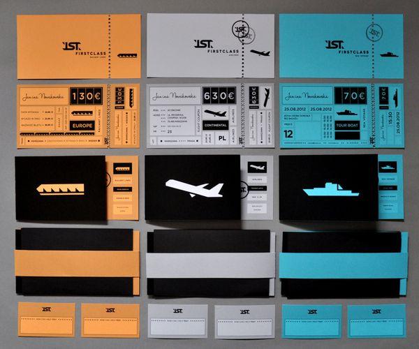visual identity / 1ST CLASS tickets by Martyna Wędzicka
