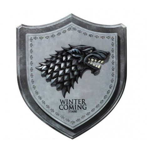 D coration murale blason maison stark game of thrones game of thrones pinterest game of for Decoration maison games