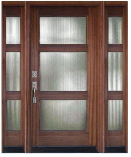 Modern Exterior Of Home With Pathway Transom Window: Modern Door Design: Contemporary Front Doors With