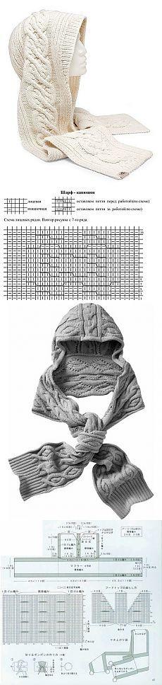 Вязаные шапки - Ольга Лео » дневник » Белый и серый вязаные капюшоны.