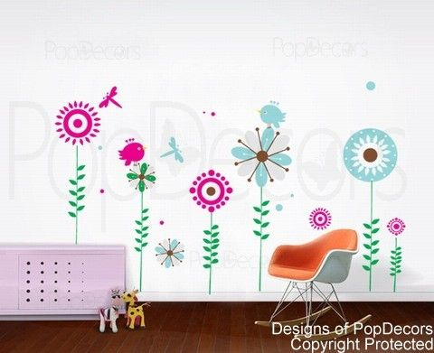 Sunflower decal home decors murals by popdecors