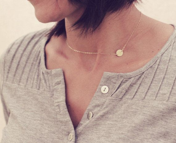 Hey, I found this really awesome Etsy listing at https://www.etsy.com/listing/228070877/dainty-gold-sideways-initial-necklace