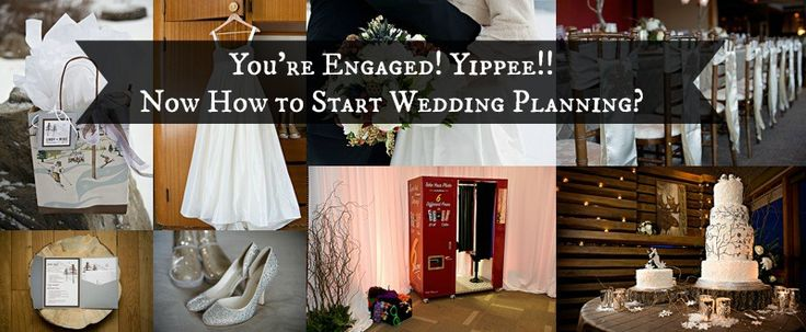 If you got engaged over Christmas, CONGRATULATIONS! Yippee!! Now what? Before you start, click to see the first step of our wedding planning process and our SHINY NEW DIY PLANNING KIT! http://postcardweddings.com/engaged-wedding-planning/  Thanks to http://www.orangegirl.com for this collage, and all the other photographers mentioned in the post.