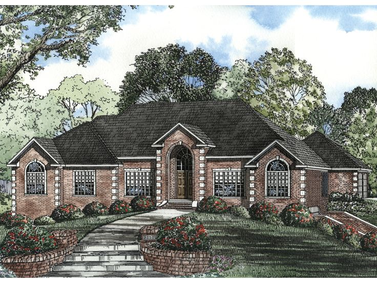 Best Brick Ranch House Plans Ideas On Pinterest Ranch House - Brick home floor plans