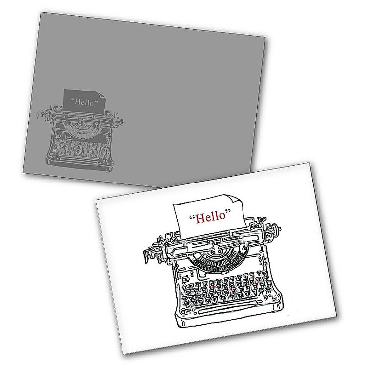 """Word Type"" Blank Greeting Cards"