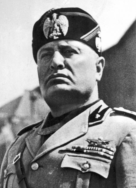 Benito Mussolini. The other great bully and dictator of Italy during WW2. Even Hitler treated him with disdain.