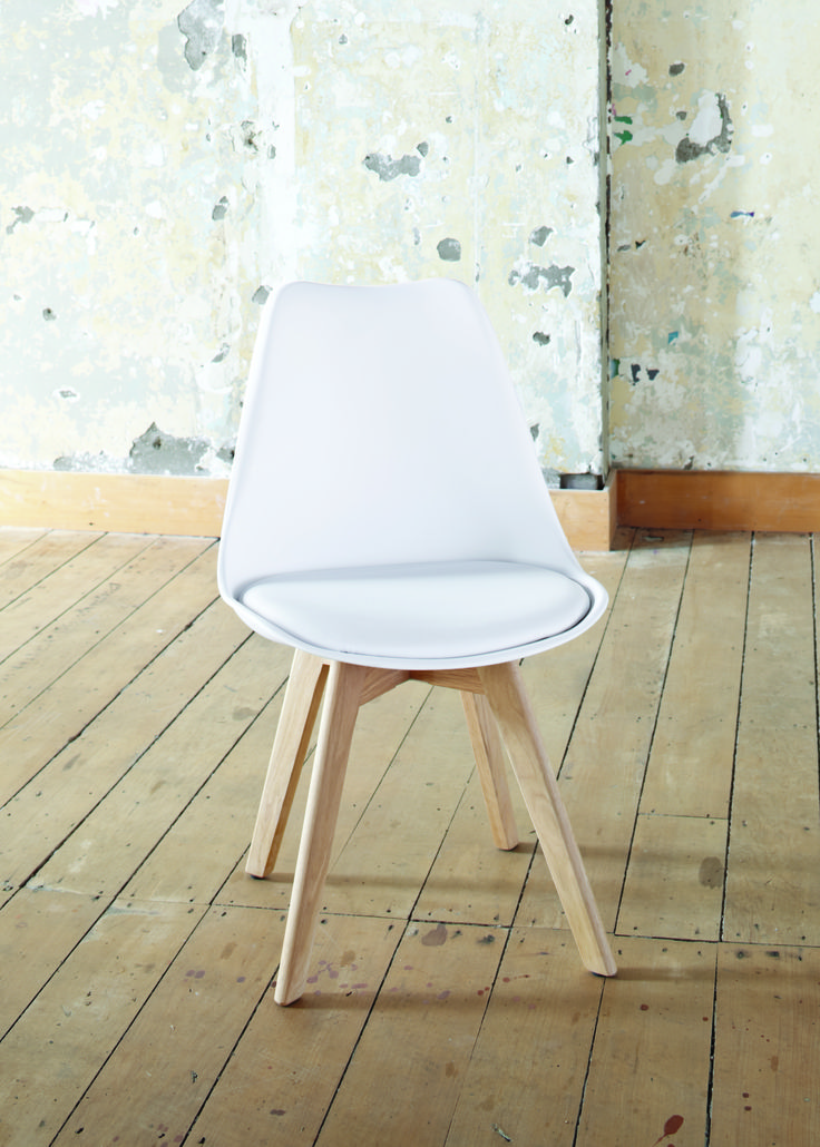The Stuka Office Chair in white offers great comfort and a splash of colour to brighten the room.
