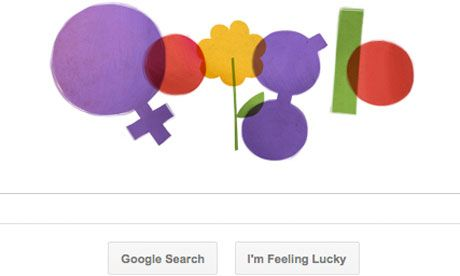 Google created a great International Women's Day doodle.