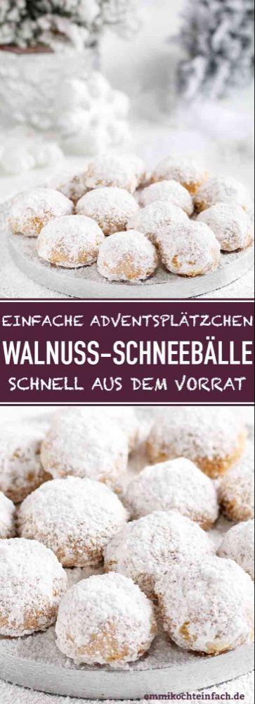 Walnuss-Schneebälle   – Essen und trinken