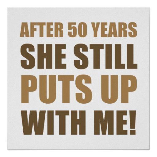 50th wedding anniversary paper craft ideas | 50th Anniversary Humor For Men Print | Zazzle.co.uk
