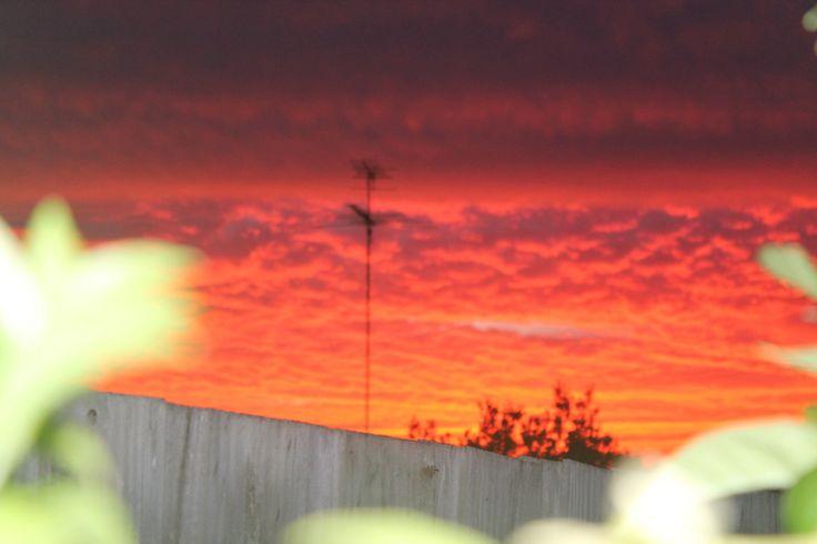Amazing sky over geelong