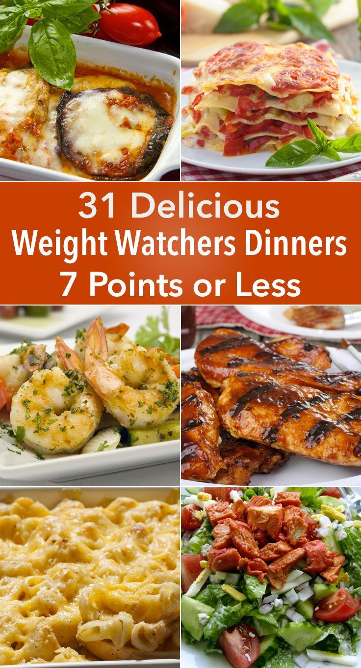 31 Delicious Weight Watchers Dinners for 7 Points or Less