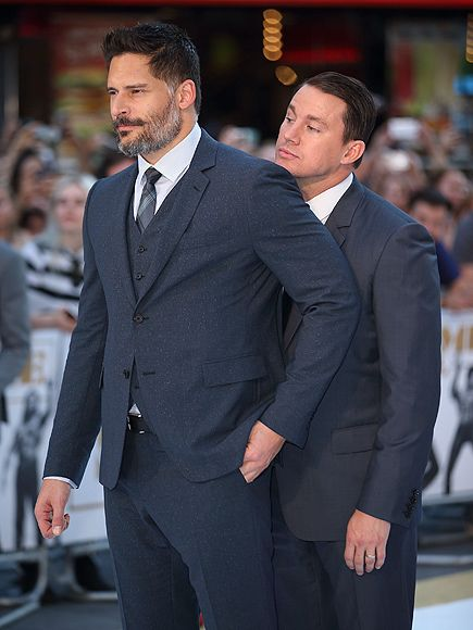 Star Tracks: Wednesday, July 1, 2015 | ON YOUR LEFT  | Channing Tatum squeezes into co-star Joe Manganiello's shot while posing for photographers at the Magic Mike XXL premiere in London on Tuesday.