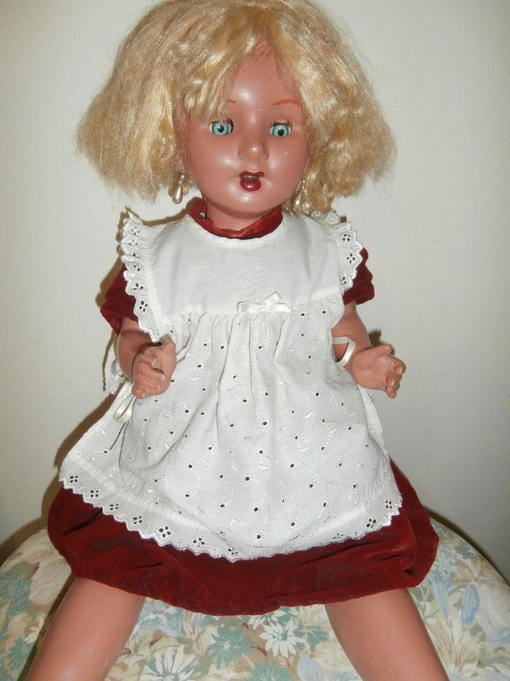 Vintage composition doll 28ins needs a bit of T.L.C pick up Purton Wilts