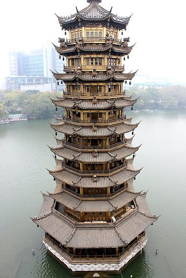 Sun Pagoda, Guilin, Guangxi, China by DaveLambert