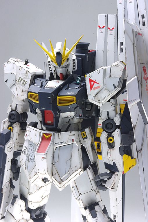 MG 1/100 Nu Gundam Ver.Ka: modeled by NA○KI