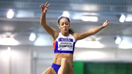 Katarina Johnson-Thompson will not compete at European Indoor Championships  A minor hamstring strain also kept the 24-year-old out of competing in last month's indoor event in Birmingham