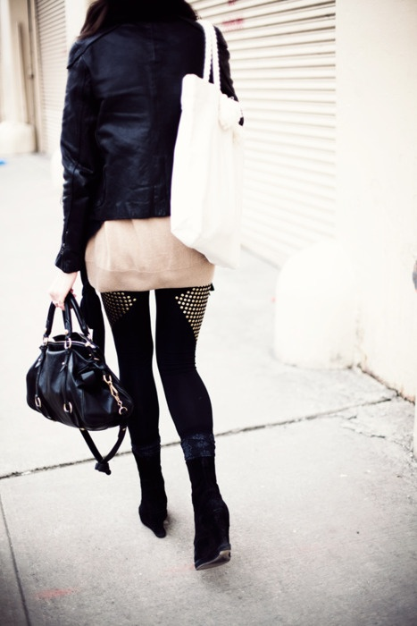 studded tights.