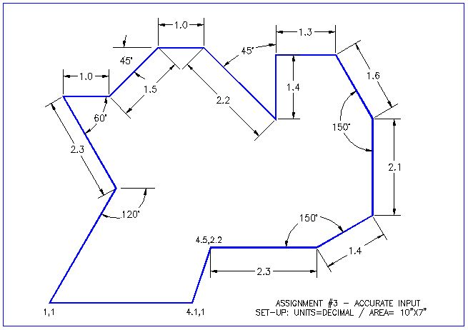 Line Drawing Algorithm In Cad : Autocad exercise angles and lines pinterest
